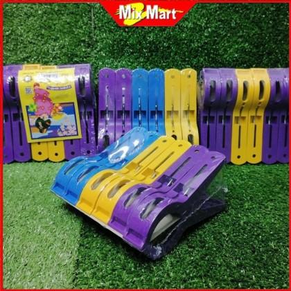 6PCS Multicolor Clothes Pegs Cloth Clip / Penyepit Baju / Cloth Clips ES8863/6N